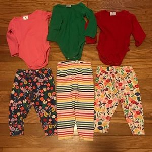 Hanna Andersson Mix and Match Outfits, sz 75